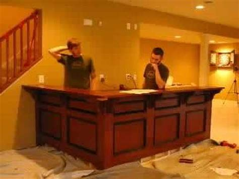 Installing A Bar In Basement by Bar Install With Cabinets And Soundtrack