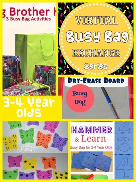 roundup busy bags for 3 and 4 year olds teach me