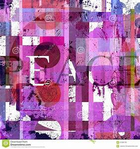 Graphic Design With Word Peace Royalty Free Stock Photo ...