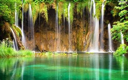 Waterfall Cave Views Wallpapers Caves Waterfalls Water