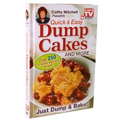 dump cake recipe book cathy mitchell s dump cakes as seen on tv
