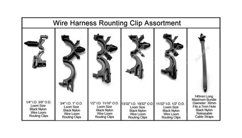 Wiring Harness Wire Loom Routing Clips Assortment