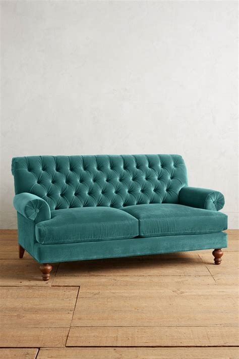 teal settee teal velvet fan pleat settee everything turquoise