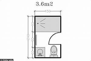 Plan Petite Salle De Bain Avec Wc : surface de 3 6 m2 le plan d 39 une petite salle de bains ~ Melissatoandfro.com Idées de Décoration