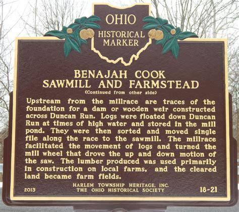 cook sawmill  farmstead marker rear remarkable ohio