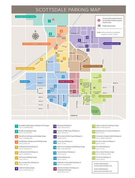 town area parking map  town scottsdale