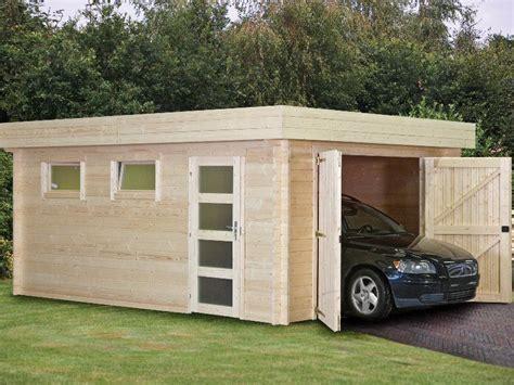 Flat Roof Garage Designs Wooden  House Plans #45994