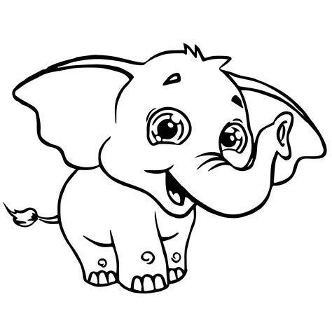 cartoon elephant coloring pages cartoon elephant