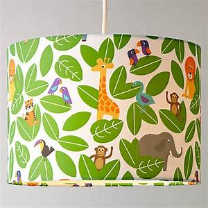 Buy little home at john lewis animal fun jungle lampshade for Jungle floor lamp for nursery