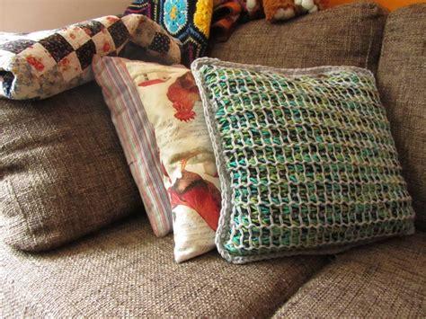 tunisian style pillow cover allfreecrochetcom
