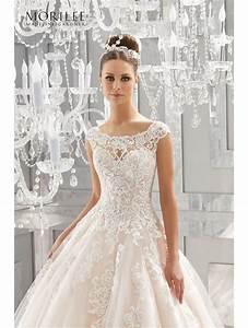 mori lee 5573 massima crystal beaded lace wedding dress ivory With beaded lace wedding dress