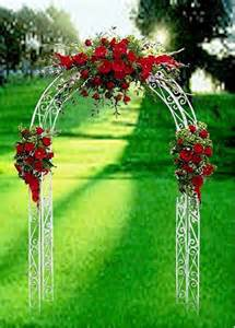 Red Rose Wedding Flowers Ceremony Arch