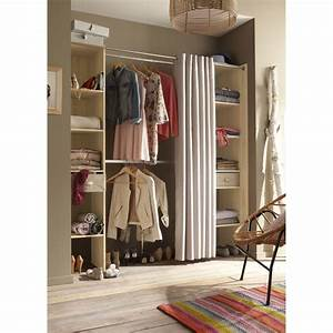 Dressing Tout En Un Avec Rideau : dressing pas cher conforama top armoire chambre beige u ~ Dailycaller-alerts.com Idées de Décoration