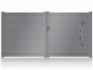 Portail 4 Metres 2 Vantaux : 17 meilleures id es propos de portail aluminium battant ~ Edinachiropracticcenter.com Idées de Décoration