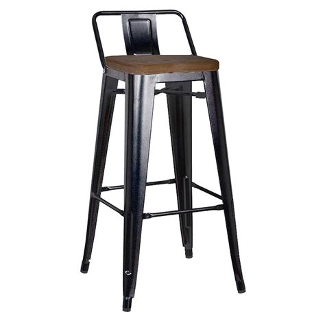 black wooden counter stools metro modern low back black counter stool eurway 4772