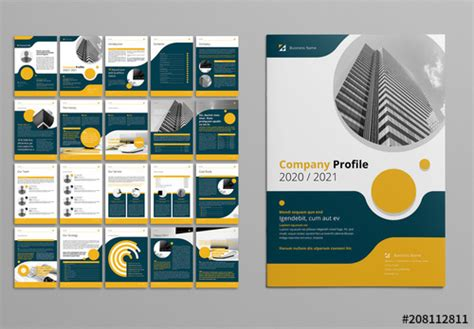 business proposal layout  yellow  gray accents