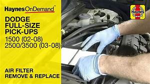 How To Change The Air Filter On A Dodge Ram 1500  2002