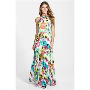 summer dress 2015 sleeveless halter floral printed