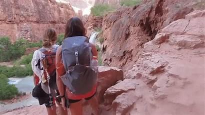 Hiking Canyon Bottom Grand Havasupai Pick Oasis