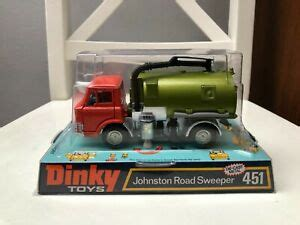 DINKY 451 JOHNSTON ROAD SWEEPER IN BUBBLE BOX MADE IN 1974 ...