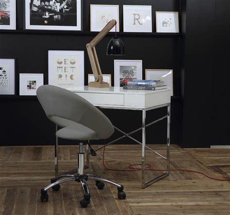 chaise de bureau grise chaise de bureau design grise à pinto miliboo