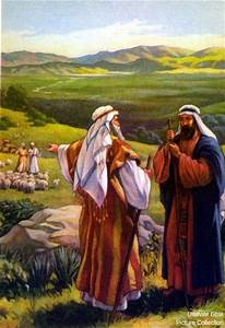 Genesis 13 Bible Pictures: Abram with his nephew Lot ...
