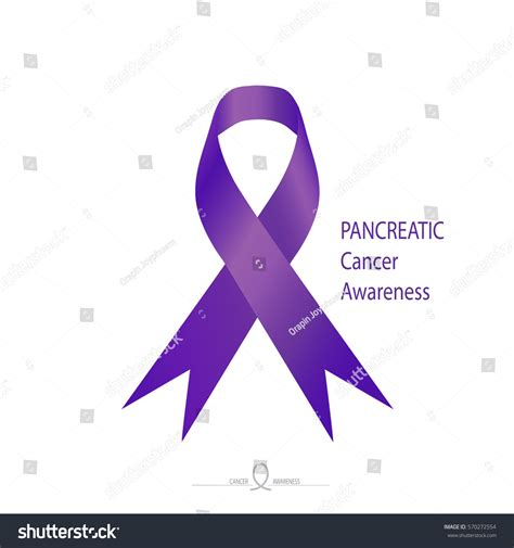 color for pancreatic cancer pancreatic cancer awareness purple color ribbon stock
