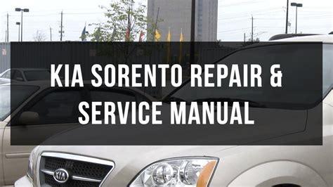 car manuals free online 2008 kia sorento electronic toll collection download kia sorento body service and repair manual youtube