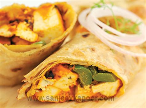 cuisine masterchef how to paneer tikka kathi roll recipe by masterchef