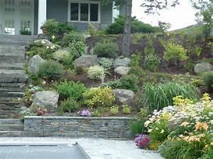Ideas for large walls, dry creek beds landscape design
