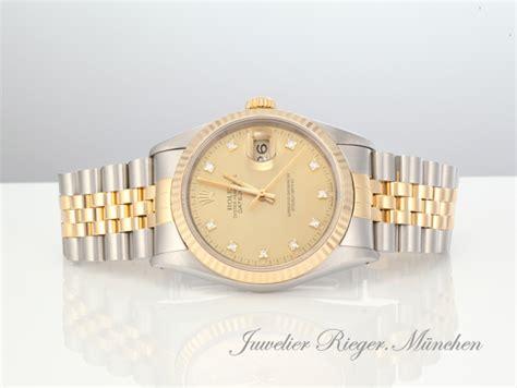rolex gold diamanten herren rolex datejust 16233 stahl gold 750 diamanten automatik 36