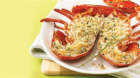 comment cuisiner le homard cuit surgelé homard grillé et chapelure au citron et à la ciboulette