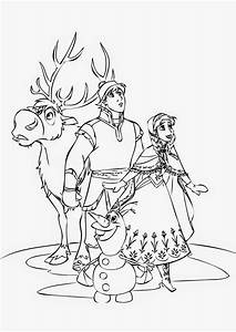 Free coloring pages of sven and kristoff frozen