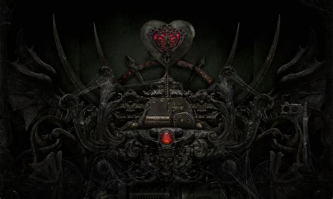 dark love heart evil sci fi mech gothic wallpaper