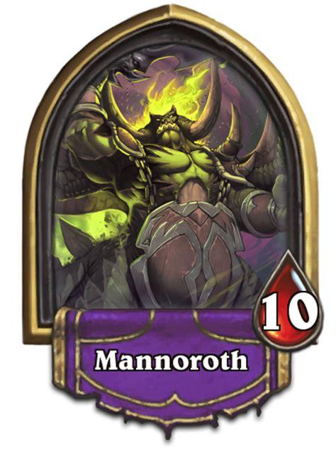 Legendary Warlock Deck Hearthpwn by Warlock Legendary Mannoroth Fan Creations Hearthstone