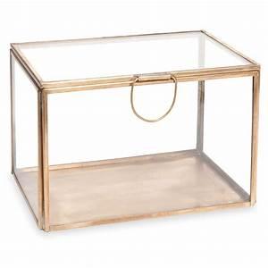 Boite A Bijoux En Verre : bo te bijoux en verre et m tal alisha brass maisons du monde ~ Farleysfitness.com Idées de Décoration