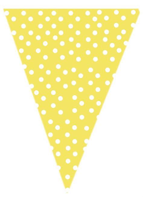 yellow polk  dot printable banner printables