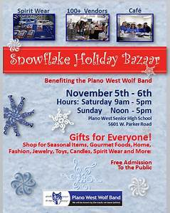 Holiday Bazaar Flyer Dfwcraftshows 15th Annual Snowflake Holiday Bazaar