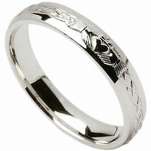 irish wedding ring celtic knot claddagh ladies wedding With claddagh ring wedding bands