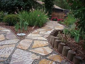 Gartenwege Aus Kies : natursteine und garten gestalten schicke gartenwege aus ~ Lizthompson.info Haus und Dekorationen