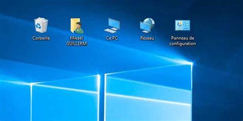 configuration pc bureau windows 10 afficher ce pc panneau de