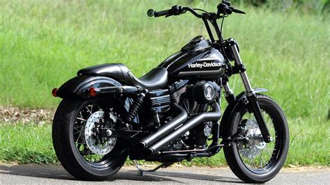 Wallpaper Harley-davidson Chopper Black Motorcycle