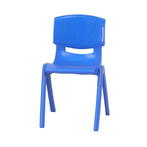 blue plastic stackable school chair with 15 5 seat