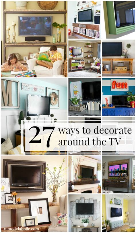 how to decorate around a remodelaholic 95 ways to hide or decorate around the tv electronics and cords