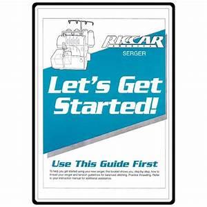 Instruction Manual  Riccar 564de Let U0026 39 S Get Started Guide