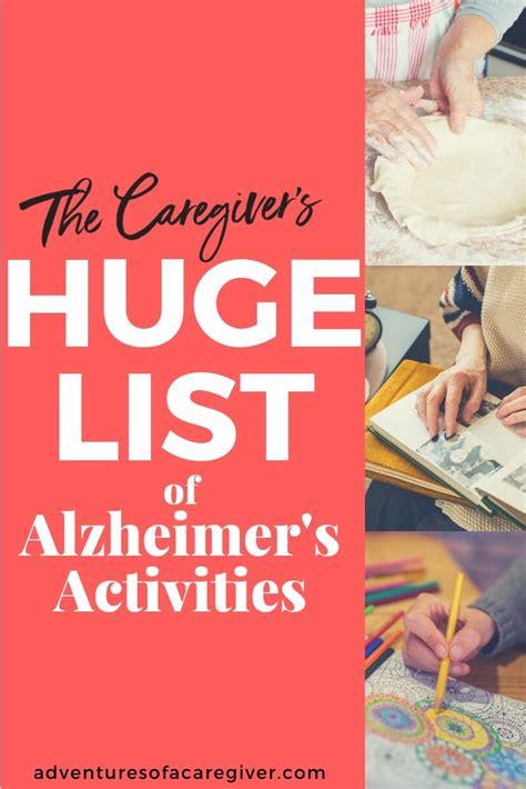 75+ Stimulating Activities for Alzheimer's & Dementia ...