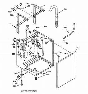 Washer Cabinet Parts Diagram  U0026 Parts List For Model Wsm2420tbaww Ge