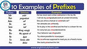 10 Examples Of Prefixes