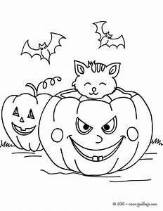Dibujos Para Colorear Halloween Calabazas Y Murcilagos