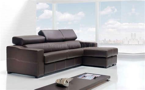 Contemporary Sectional Sleeper Sofa Brown Contemporary